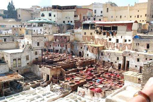 Morocco, Learn, Color, Work, Fez, Leather, Learning