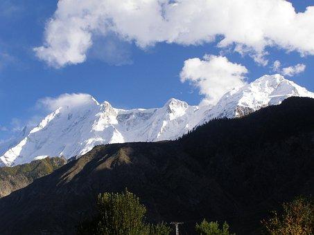 Golden, Peak, Hunza, Valley, Pakistan, Sky, Nature