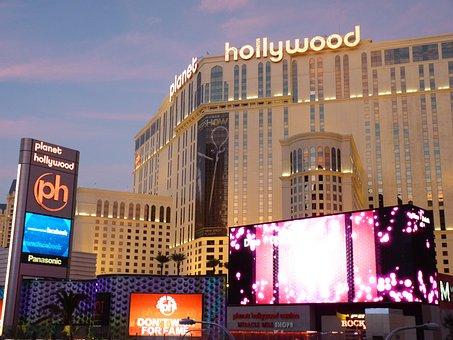 Las Vegas, Night, Lights, Hollywood