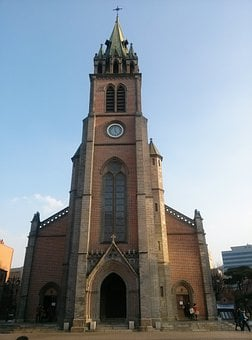 Seoul, Myeongdong Cathedral, Cathedral, Old Buildings