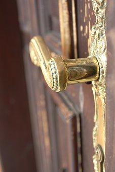 Door Handle, The Door, Open, Castle, Key, Press