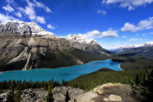 Peyto Lake, Canadien Rockys, Mopuntains, Scenery