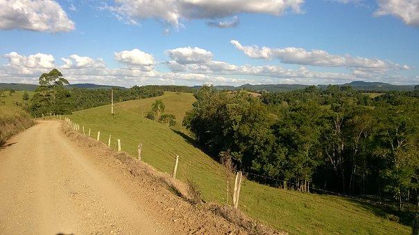Road, Field, Forest, Interior, Serra, Nature, Trees