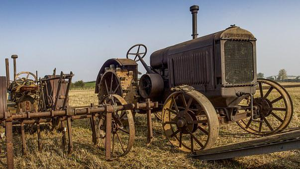 Tractor, Old, Rusty, Agriculture, Farm, Vehicle
