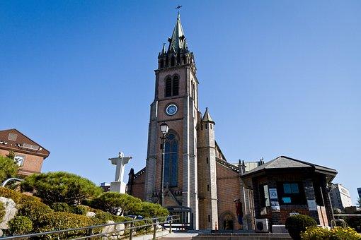 Myeongdong, Cathedral, Seoul, Korea, Church
