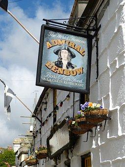 Shield, Pub, England, Cornwall, Pensance, Restaurant