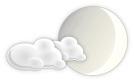 Slightly Cloudy, Moon, Night, Bet Ricon, Cloudiness