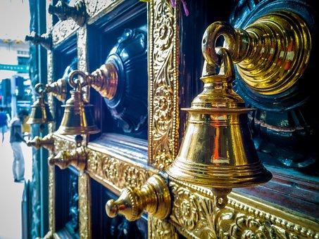 Bell, Brass, Hindu, Temple, Sound, Ring, Metal, Golden