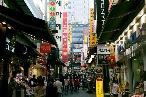 Namdaemun, Market, Myeongdong, Seoul, Korea, South