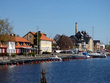 åhus, Port, Water, Spring, Boats, Summer, Boat