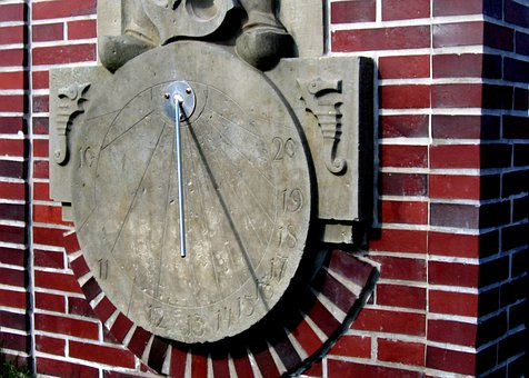 Sundial, Time Of, Sun, Pointer, Old, Clock, Late