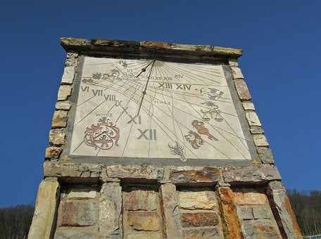 Time Of Day, Sundial, Clock, Time, Sun, Time Of