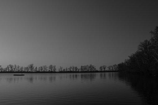 Lake, Water, Pond, Still Water, Thenner Lake, Mirroring