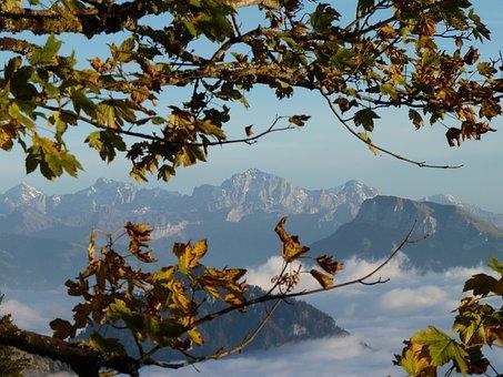 Mountains, Alpine, Switzerland, Rigi, View, Clouds