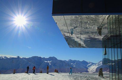 Sun, Sunbeam, Rays, Landscape, Reflections, Alpine