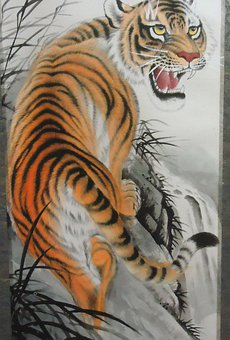 Tiger, Artwork, Cat, Design, Wildlife, Drawing, Feline