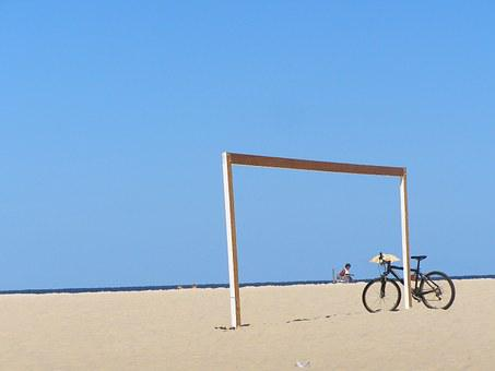 Bike, Beach, Sand, Summer, Holidays, Beira Mar