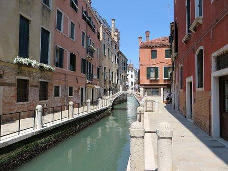 Venice, Rio, Wharf, Bridge, Old Town, Water's Edge