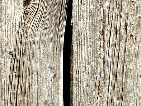 Wooden, Board, Plank, Knots, Crack, Woodgrain, Brown