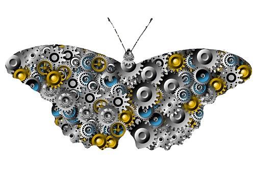 Gear Butterfly, Gears, Butterfly, Creativity, Design