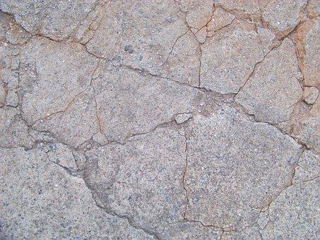 Cement, Floor, Plaster, Gray, Cracked, Texture