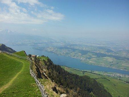 Rigi, Central Switzerland, Alpine, Hike, Hiking, Summer