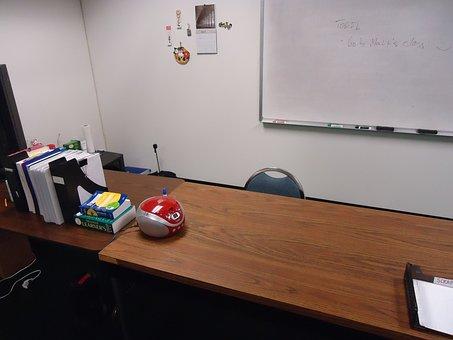 Chair, Interior, Table, School, Nobody, Desk, Empty