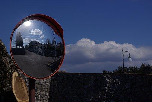 Mirror, Clouds, Italy, Lazio, Sky, Reflection