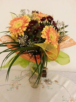 Flowers, Bouquet, Gerberas, Flowers For Her