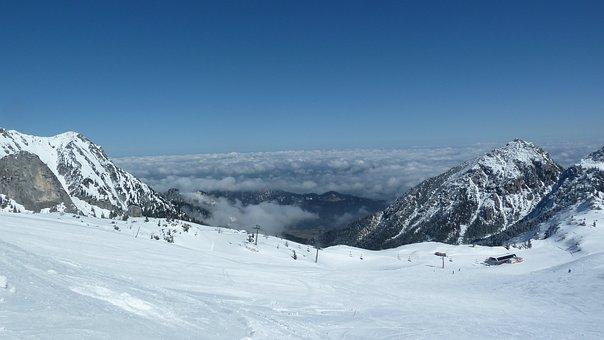 Tyrol, Tannheimertal, Füssener Jöchel, Skiing, Snow