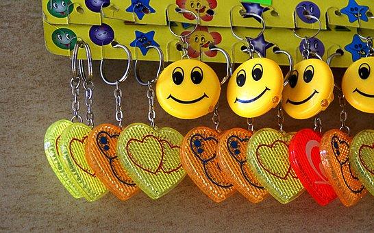 Keyrings, Toys, Pendants, Gadgets, Hearts