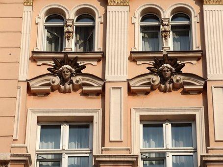 Hotel Pod Orlem, Bydgoszcz, Windows, Architecture