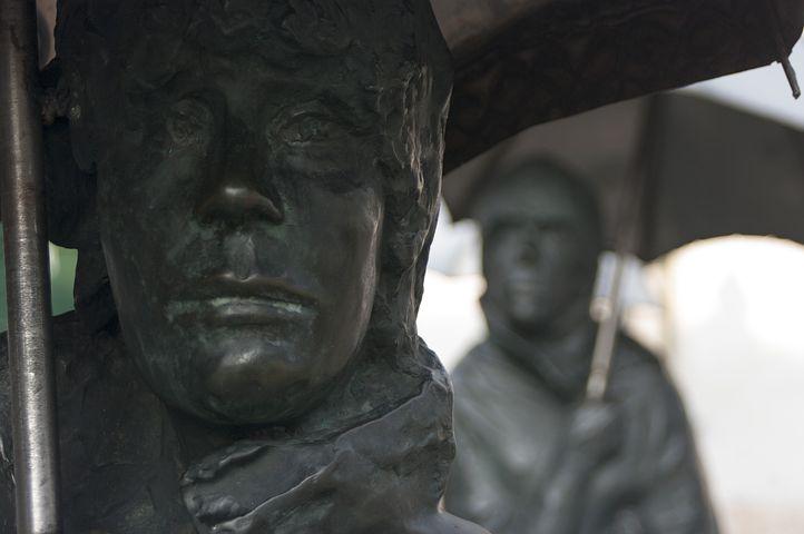 Statue, Budapest, Hungary, Bronze Statue, Hungarian