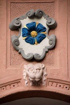 Building, Rose, Lippe Rose, Decor, Blue, Home