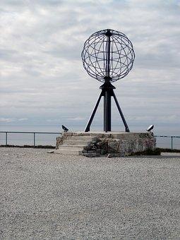 Nordkapp, Norway, Globe, Art
