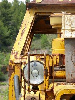 Excavator, Machinery, Old, Abandoned, Light, Lighthouse