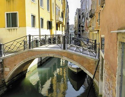 Italy, Venice, Rio, Bridge, Channel, Facades, Tourism