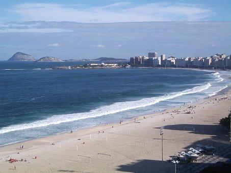 Copacabana Beach, Rio De Janeiro, Beach, Tourist