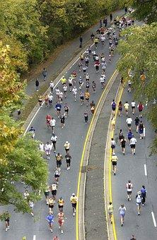 Marathon, Runners, Long Distance, Washington Dc, Fall