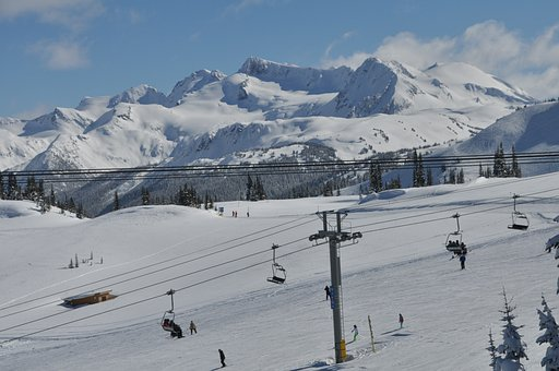 Ski Lift, Skiing, Whistler, Canada, British Columbia