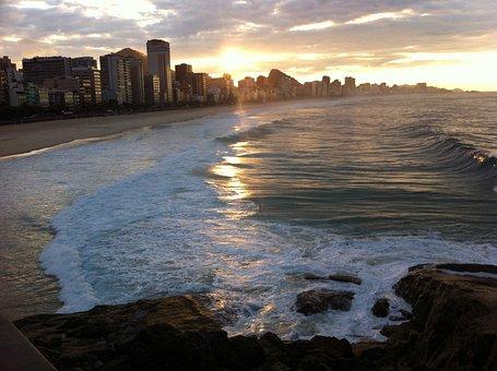 Copacabana Beach, Rio, Rio De Janeiro, Tourist