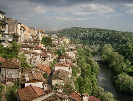 Veliko Turnover, Bulgaria, Town, Buildings, Houses