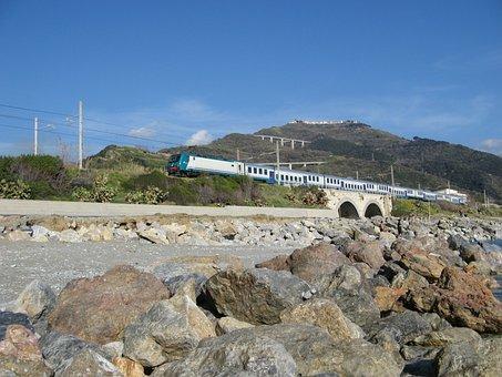 Guardia Piemontese, Calabria, Train, Bridge, Stones
