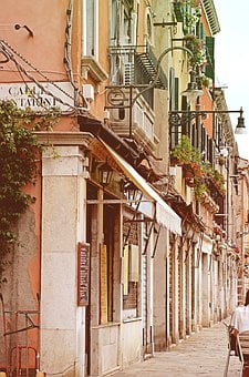 Venice, Alley, Italy, Building, Homes, Side Street