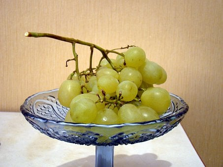 Grapes, Berry, Green, A Bunch Of, Vase, Still Life