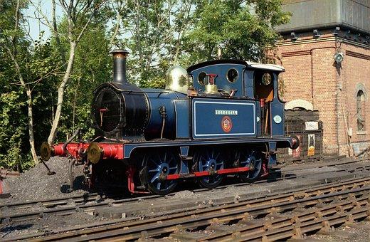 Locomotive, Bluebell, Train, Railroad, Tracks, Outside