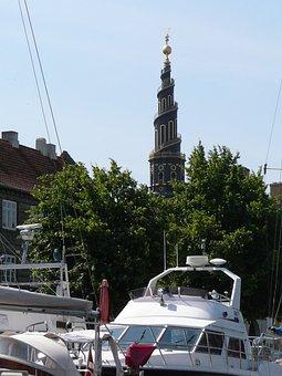 Frelsers Kirke, Copenhagen, Denmark, Yacht, Boat Tour