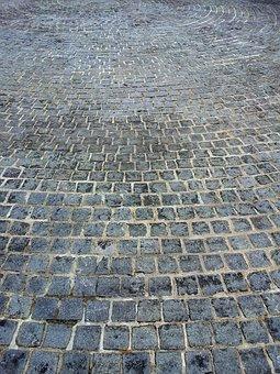 Brick Ground, Circles, Street, Flagging, Brick, Ground