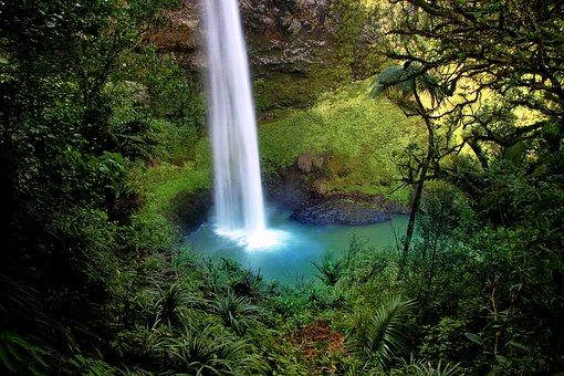 Bridal Veil Fall, Water Fall, New Zealand, Waterfall
