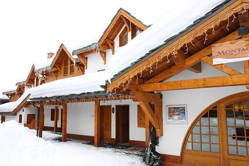 Alpine, Building, Cabin, Chalet, Cottage, Covered
